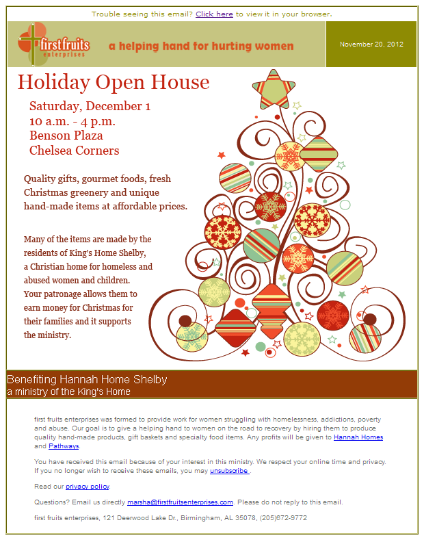 open house template